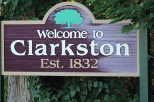Welcome to Clarkston sign