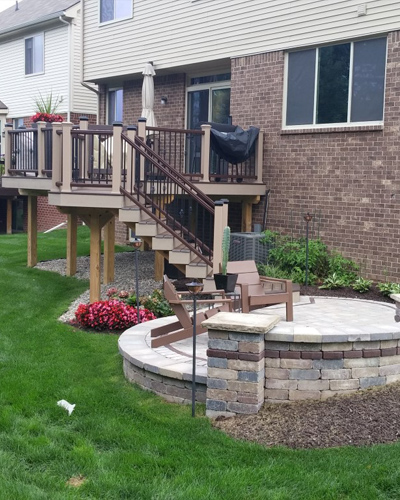 Deck Accessories in Metro Detroit: Lighting & More | MGE Carpentry - custom