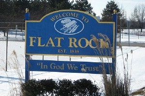 Welcome to Flat Rock sign