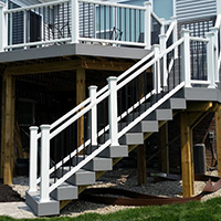 Deck Accessories in Metro Detroit: Lighting & More | MGE Carpentry - metalrail